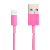 cable-charge-iphone-5C-rose-1m