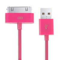 cable-charge-synchronisation-rose-iphone-4S