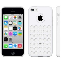 coque-silicone-a-trous-blanc-iphone-5C