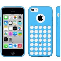 coque-silicone-a-trous-bleu-iphone-5C