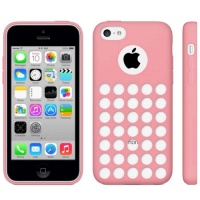 coque-silicone-a-trous-rose-iphone-5C