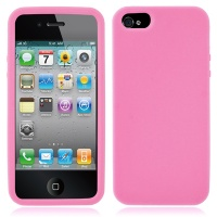 coque-silicone-rose-iphone-5S