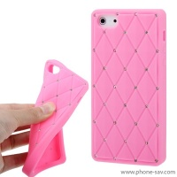 coque-silicone-strass-rose-pale-iphone-5